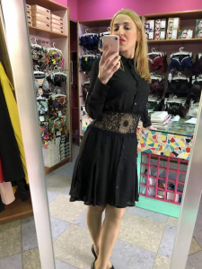 Abito Jenè Camicia con cintura pizzo
