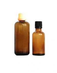 Bottigliette ambrate in vetro 100ml , 250ml