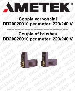 COPPIA di Carboncini Motore aspirazione AMETEK 220/240 V