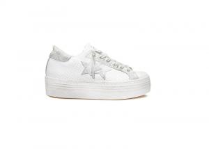 Sneaker 2 Star donna low bianco-ghiaccio