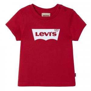 T-Shirt rossa con stampa logo bianco e rosso