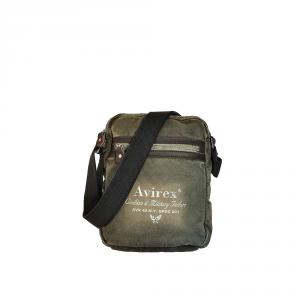 Avirex - 140506 - Borsa a tracolla unisex grande L 2 scomparti verde militare cod. I