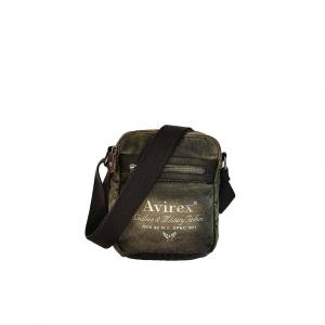 Avirex - 140506 - Borsa a tracolla unisex media M 2 scomparti verde militare cod. H