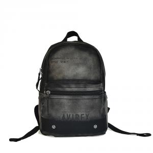 Avirex - Vermont - Zaino unisex 1 scomparto con venature nero cod. VRM-01-MD