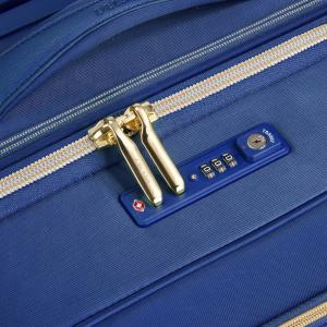 Delsey - Montrouge - Valigia trolley cabina Ryanair morbido 4 ruote 55 cm blu cod. 2018803