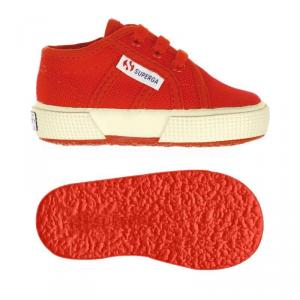 Scarpe rosse con lacci e suola in gomma