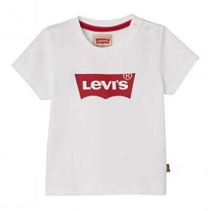 T-Shirt bianca con stampa logo bianco e rosso