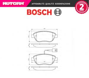 Kit pastiglie freno a disco anteriori Fiat-Lancia-Opel Bosch