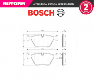 Kit pastiglie freno a disco anteriori Jaguar Bosch