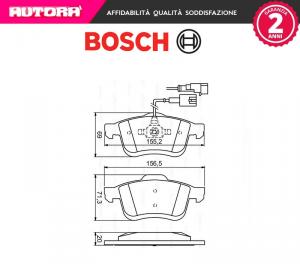 Kit pastiglie freno a disco Fiat-Lancia-Opel Bosch