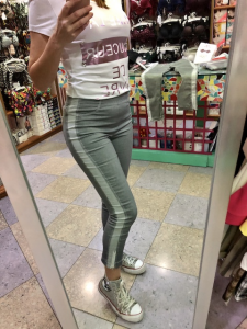 Pantalone Janira alla caviglia con cerniera 2 colori