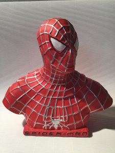 SPIDERMAN BUSTO IN GESSO.