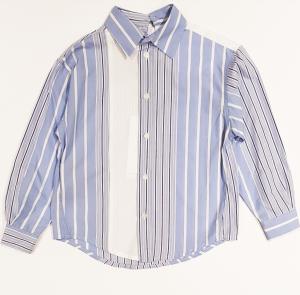 Camicia a righe celesti, bianche e blu