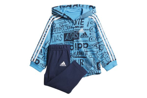 TUTA COMPLETA ADIDAS I GRAPH FZ HD J SUITS SURVETEMENT DV1246 BLUE BLACK