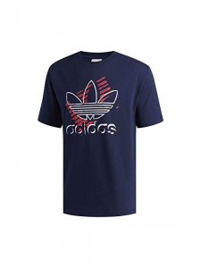 T SHIRT ADIDAS BLUE/RED LOGO GRAFICO DV3281