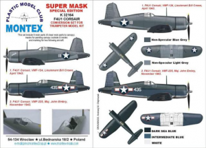 F4UI CORSAIR CONVERSION SET FOR TRUMPETER MODEL KIT
