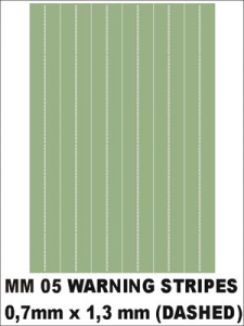 WARNING STRIPES (DASHED)