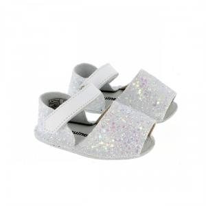 Sandali bianchi glitter