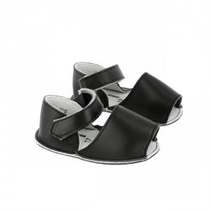 Sandali neri con velcro
