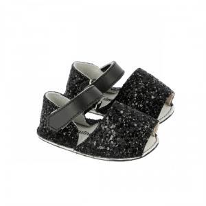 Sandali neri glitter