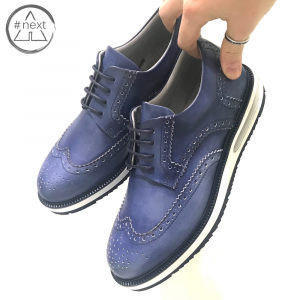 Barleycorn - Air Brogue - Blue delavè SS2019