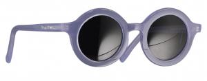 Occhiali da sole blu tondi con lenti nere