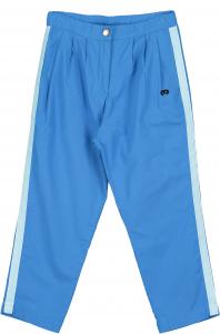 Pantalone azzurro con bande celesti