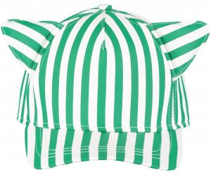 Cappello a righe bianche e verdi