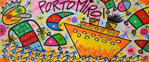 Donzelli Bruno, Porto Mirò, Serigrafia polimaterica, Formato cm 30x71