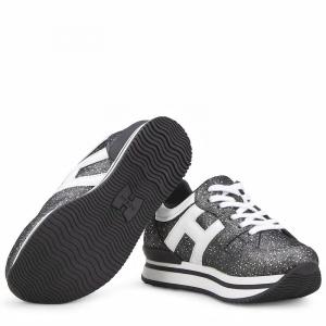 Scarpe grigie scure con logo bianco