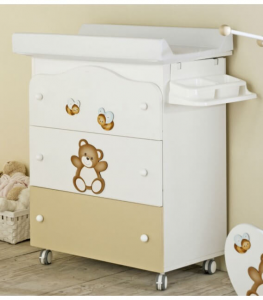 Bagnetto bianco/nocciola coll. Baby Orsetto Baby expert