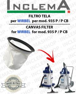 935 P / P CB FILTRO TELA PER aspirapolvere WIRBEL