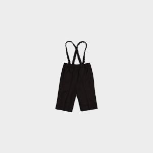 Pantaloncino nero con bretelle
