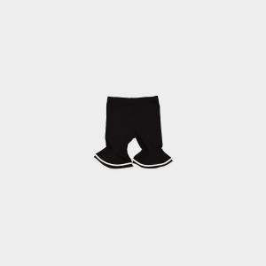 Pantalone nero con bande avorio