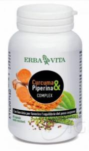 Curcuma & Piperina Complex  60 capsule Erba Vita