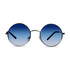 Occhiali da sole blu tondi