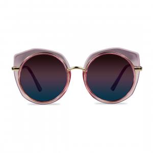 Occhiali da sole rosa tondi