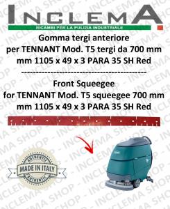 T5 GOMMA TERGI anteriore per tergi da 700 mm  per lavapavimenti TENNANT