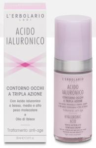 Acido Ialuronico Contorno Occhi a Tripla Azione Trattamento Anti-age 30ml