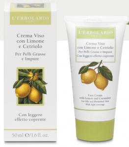 Crema Viso con Limone e Cetriolo per Pelli Grasse e Impure 50ml