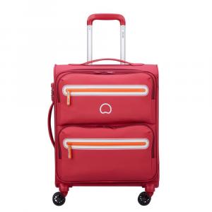 Delsey - Carnot - Valigia trolley da cabina Ryanair 4 doppie ruote slim 55 cm morbido rosa cod. 3038803
