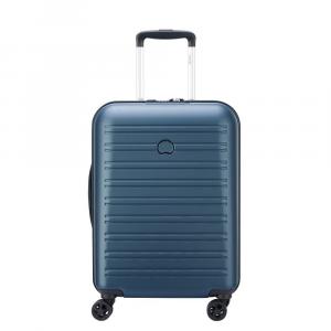 Delsey - Segur 2.0 - Valigia trolley da cabina Ryanair slim 4 doppie ruote TSA rigido blu cod. 2088803