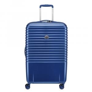 Delsey - Caumartin Plus - Valigia trolley da grande 70 cm 4 doppie ruote rigido blu cod. 2078820