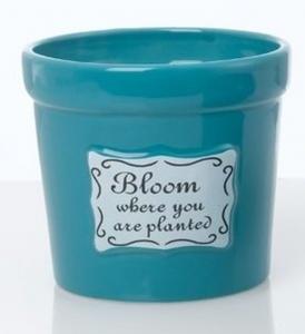 Vaso in ceramica cm.12,5h diam.13,6