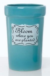 Vaso in ceramica cm.21,6h diam.14,2