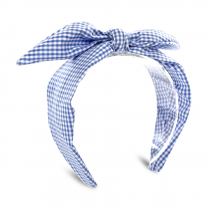 Fascia a quadri blu e bianchi con fiocco