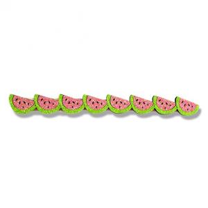 Fascia con meloni rosa e verdi glitter