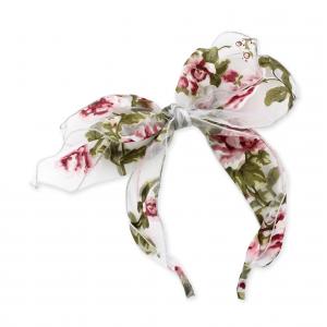 Frontino trasparente con stampe fiori multicolore