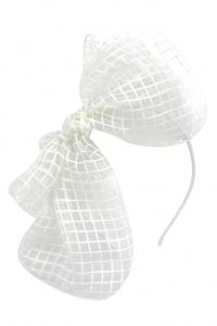 Frontino bianco con fiocco