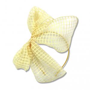 Frontino giallo con fiocco